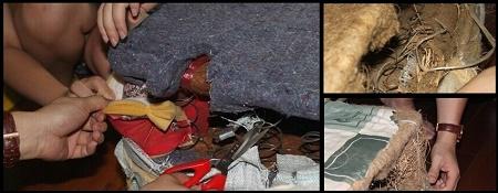 Đệm giá rẻ được nhồi từ giẻ, vải thải